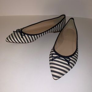JCrew Striped Pointed Toe Flats